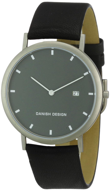Danish Design 3316282 - Reloj analógico de cuarzo para hombre, correa de cuero color negro