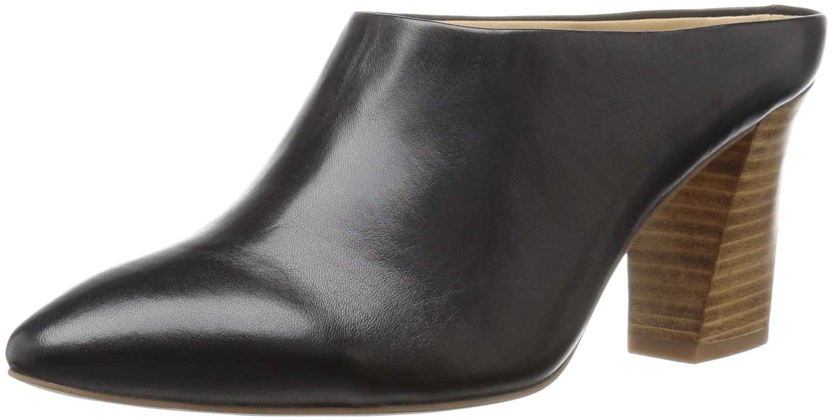 The Fix Women's Celeste Pointed-Toe Block-Heel Mule, Black, 7 M US