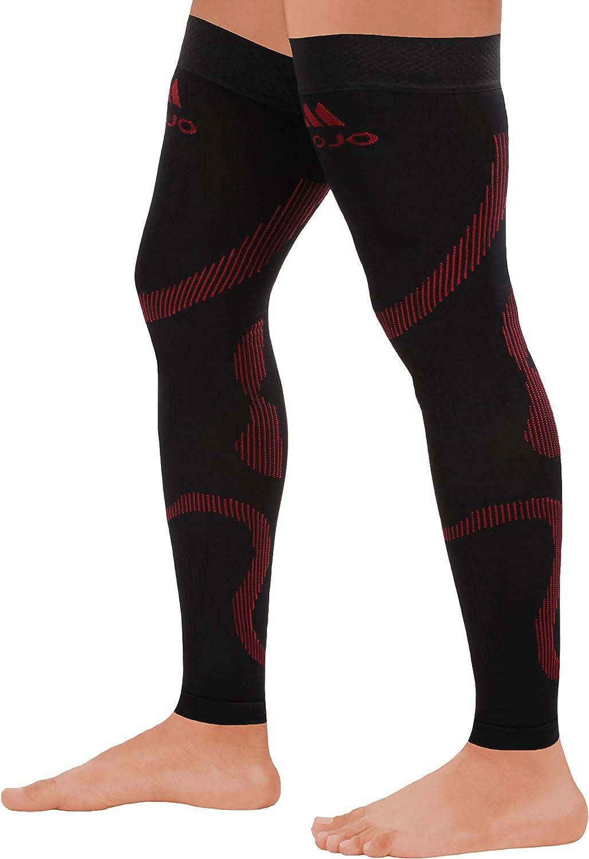 Mojo Compression Stockings Medical Thigh Leg Sleeve 20-30mmhg Black//Red Large