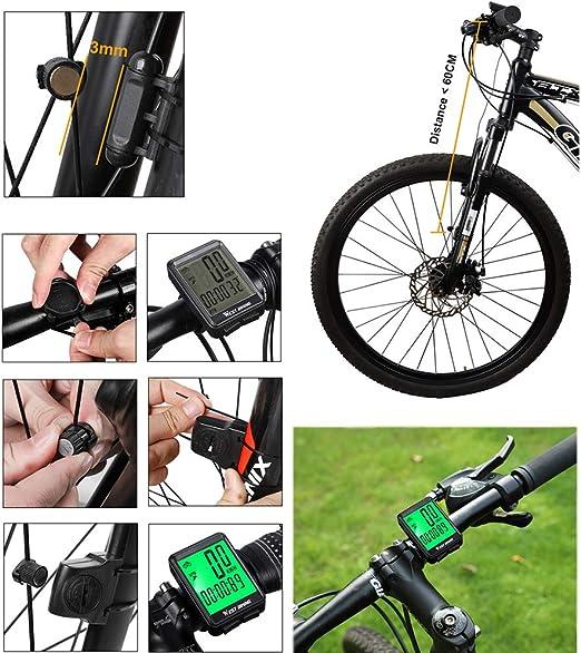 XIYAN Seguimiento Moto Velocímetro, Electrónica cadencia Bicicleta ...