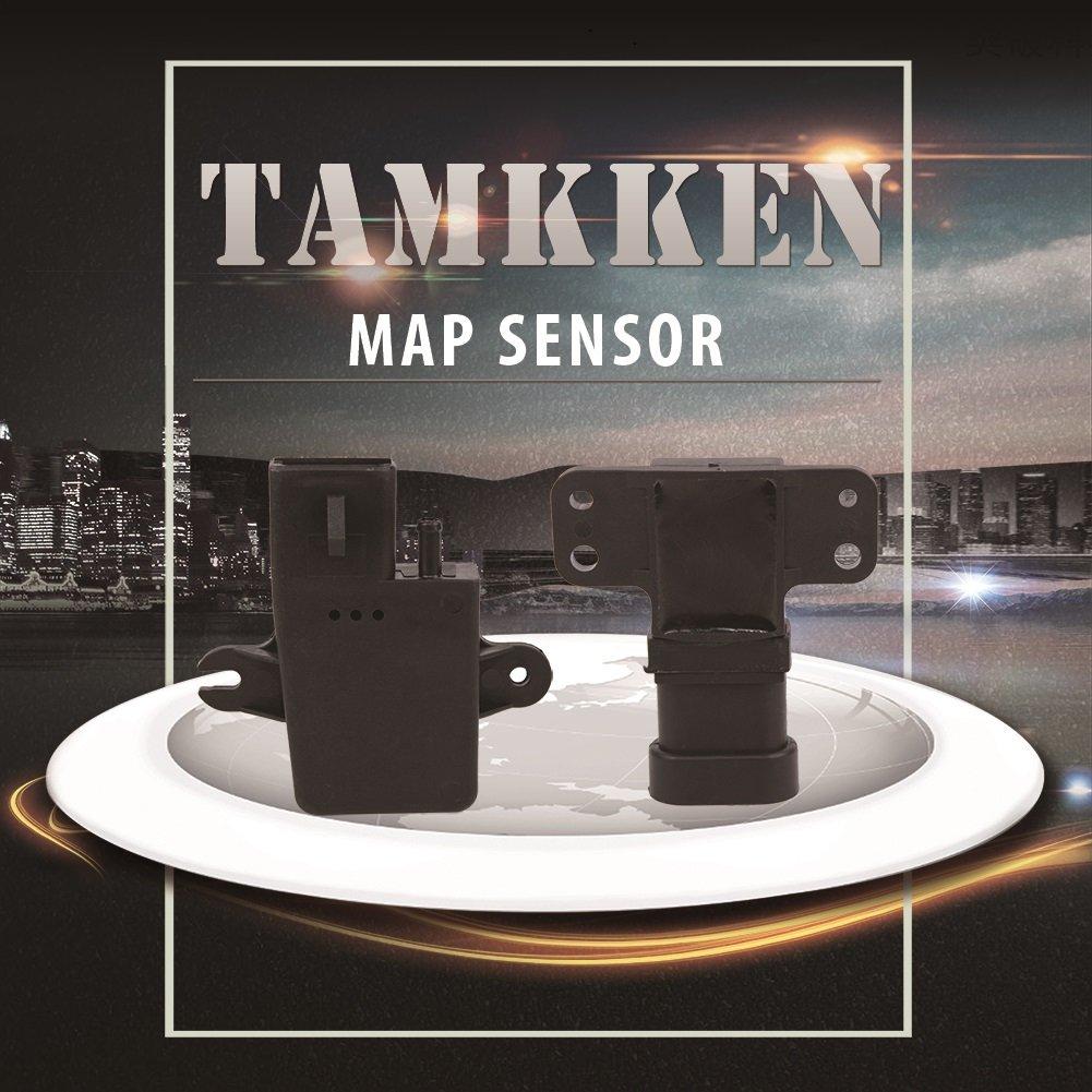 TAMKKEN MAP Sensor Manifold Absolute Pressure Sensor 16187556 12569240 for Chevy Express S10 Silverado Tahoe Cadillac DeVille Escalade Buick Park Avenue