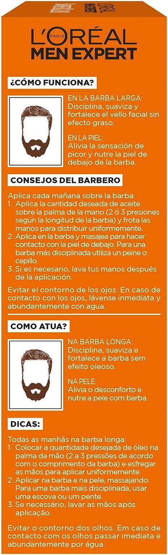 LOréal Paris Men Expert - Barber Club Aceite hidratante para barba larga y rostro - 30 ml: Amazon.es: Belleza