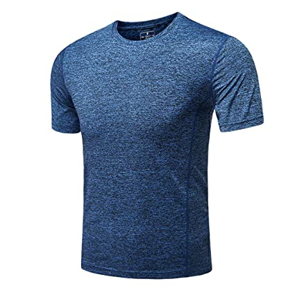 fd56082f Donci Baselayer Men's Quick-Dri Fit Tee Short Sleeve Mesh Top Crew Athletic  T-
