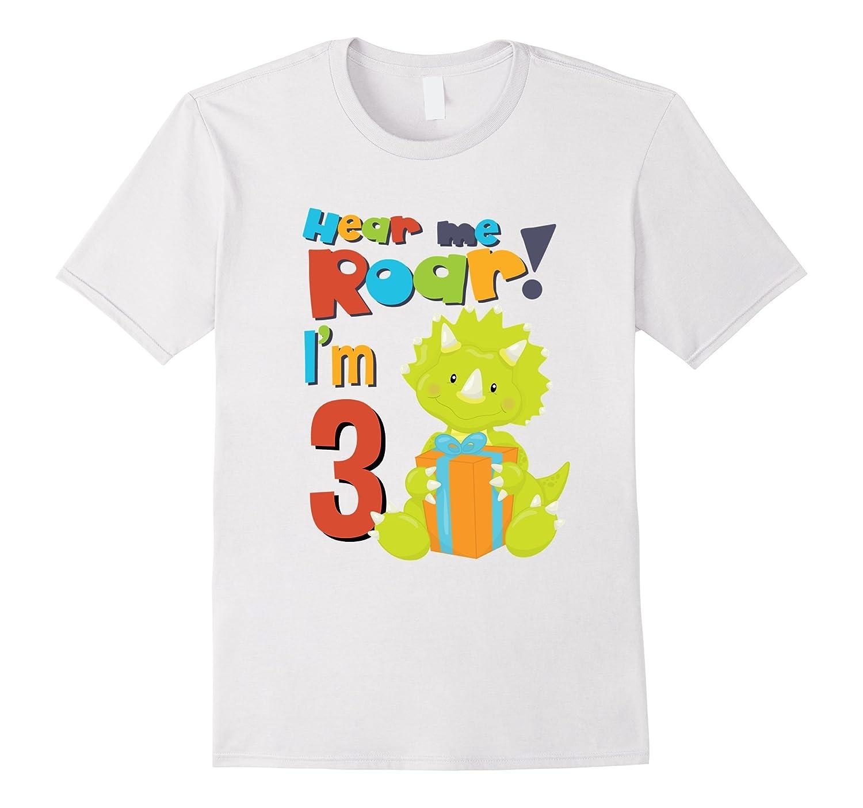 Roar Im 3 Birthday Year Old Boy Dinosaurs Shirt FL