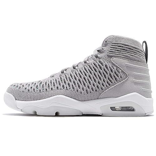 reputable site 147c4 83564 Jordan Kid s Flyknit Elevation 23 GS, Black Black-Metallic Silver   Amazon.co.uk  Shoes   Bags