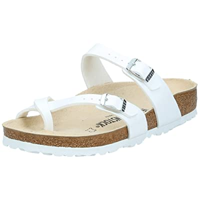 Birkenstock Womens Mayari Slide Sandal, White, 37 M EU   Flats