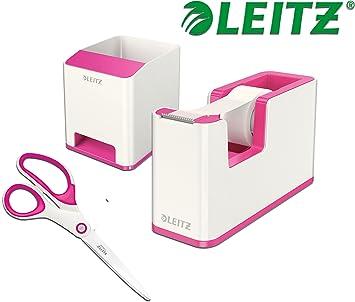 Soundverst/ärkungsfunktion, WOW wei/ß//metallic pink Leitz 53631023 Sound Stiftek/öcher
