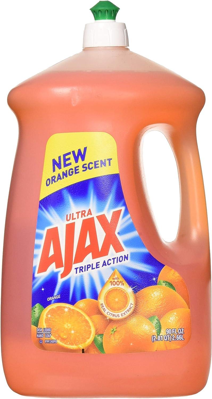 Ajax 4953423133281 90 fl oz Ultra Triple Action Liquid Dish Soap, Orange, 2-Pack