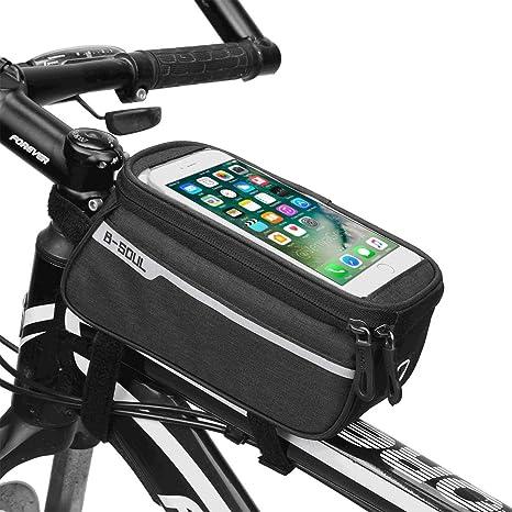 ZMunited - Bolsa Impermeable para Marco de Bicicleta con Pantalla táctil de Alta sensibilidad para teléfono móvil de 6,2 Pulgadas: Amazon.es: Deportes y aire libre
