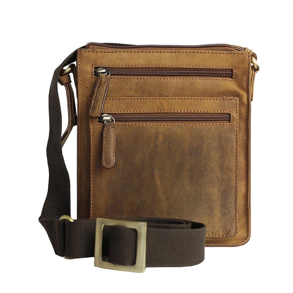 Jenes & Jandura Vintage Leather Unisex Business Bag (Tobacco)