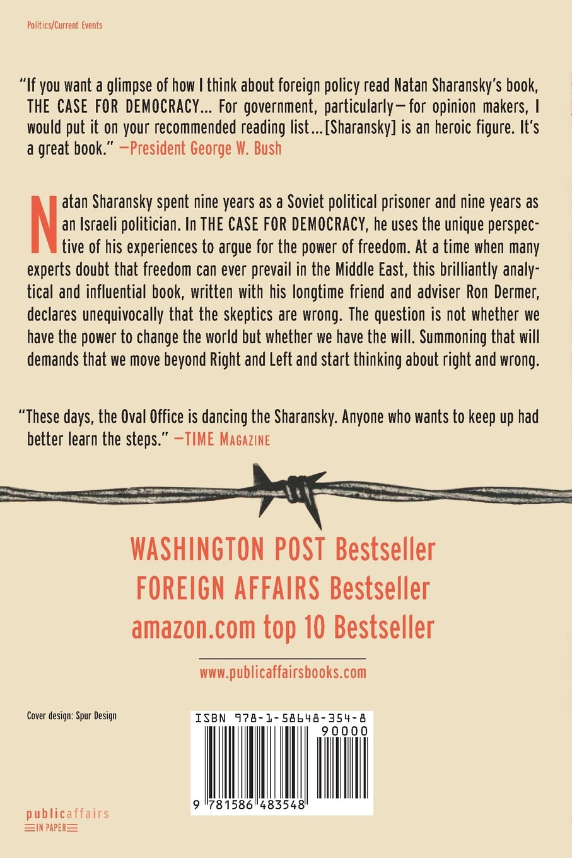 Amazon.com: The Case For Democracy: The Power Of Freedom to Overcome  Tyranny And Terror (9781586483548): Natan Sharansky: Books
