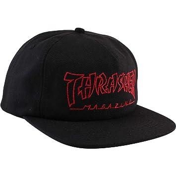 Thrasher Magazine China Banks - Gorro Ajustable, Color Negro y ...
