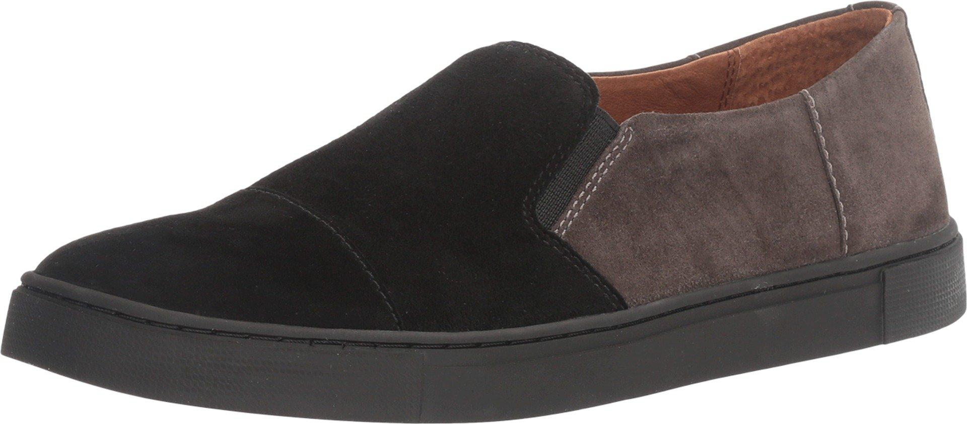 FRYE Women's Gemma Cap Slip Black Multi Suede/Dark Outsole Shoe