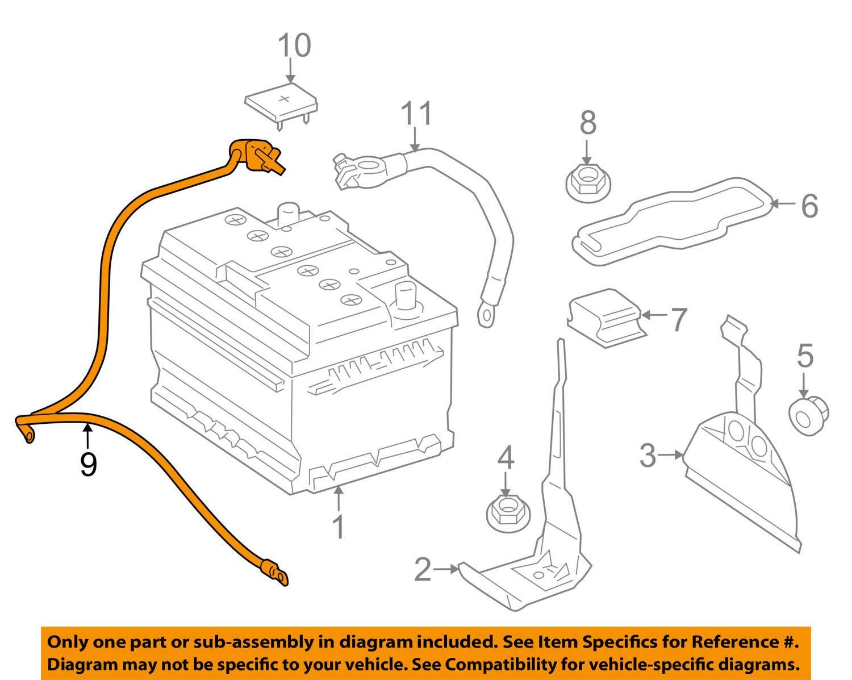 Mercedes OEM 05-10 SLK55 AMG-Battery Cable 1715401108