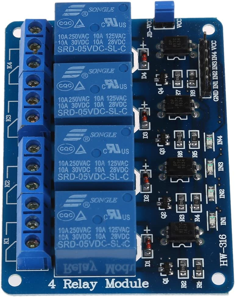 4 Canal 5V Relais Relais Module Modules pour Arduino Logique TTL SODIAL R