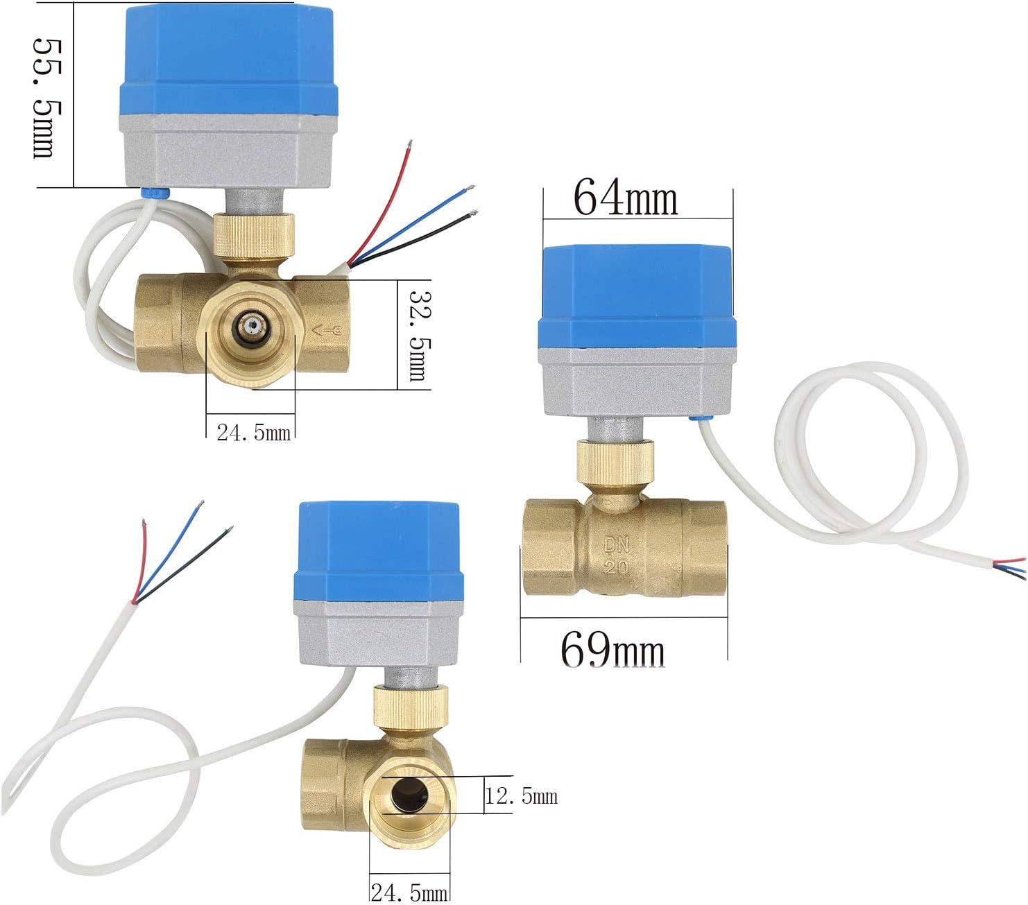 DN20-3//4 zoll zwei wege motorventil 2 Modi 1//2 3//4 1 1-1//4 1-1//2 zoll 3 wege motorkugelhahn 12v zonenventil 3 wege kugelventil elektrisch 220v