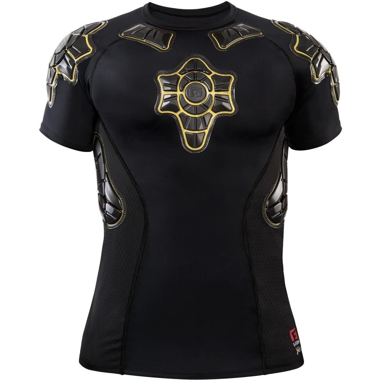 G-Form Youth Pro-X Short Sleeve Compression Shirt, Black, Medium