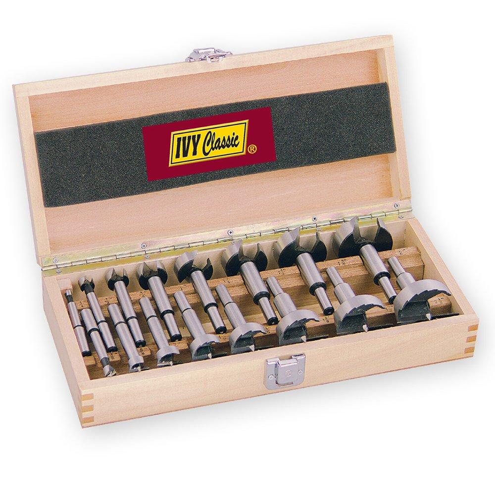 1//Card High-Speed Steel 3//8-Inch Shank IVY Classic 46118 1-1//8 x 3-1//2-Inch Forstner Bit