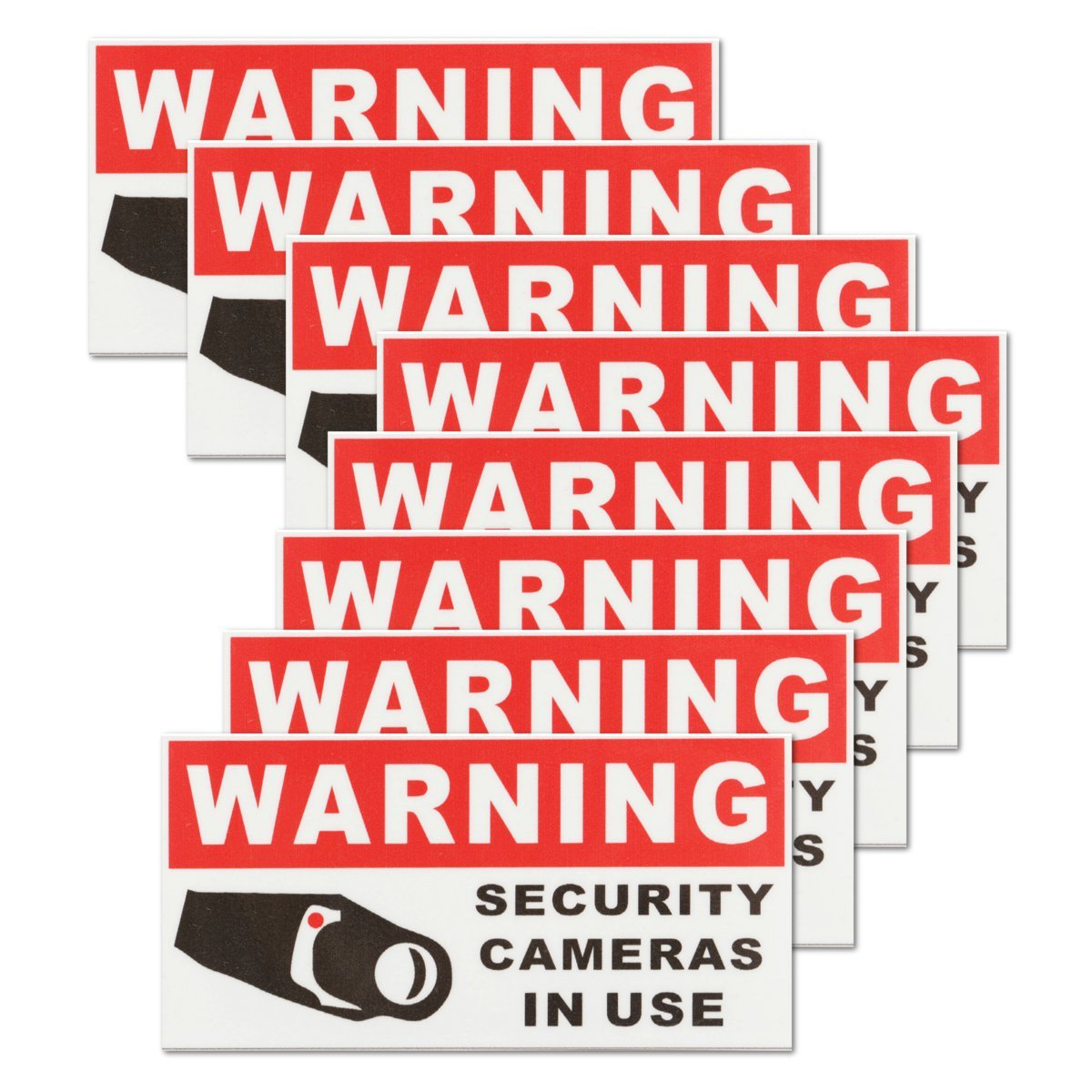 QOJA 8pcs security camera in use self-adhensive stickers safety