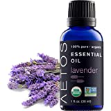 Aetos Organic Lavender Oil, USDA Certified Organic Essential Oils, Non GMO, 100% Pure, Natural, Therapeutic Grade Essential Oil, Best Aromatherapy Scented-Oils for Home, Office, Personal Use - 1 Oz