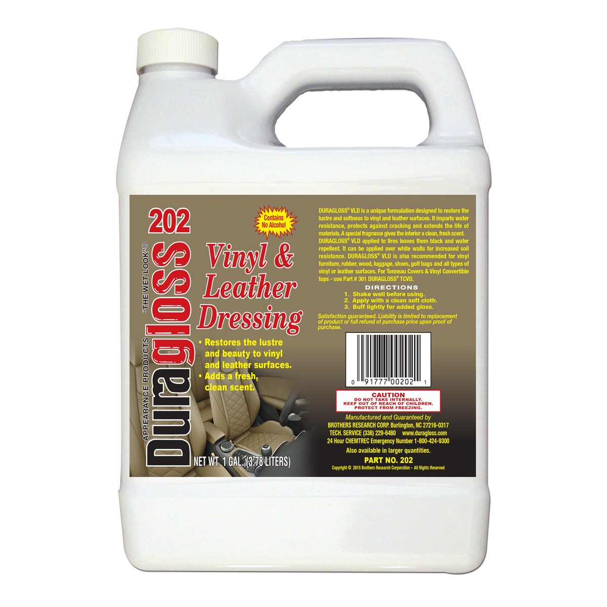 Duragloss 202 Vinyl and Leather Dressing - 1 Gallon