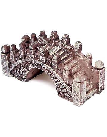 Diseño de hada con en miniatura jardín Terrario SecretRain del puente de la figura decorativa de