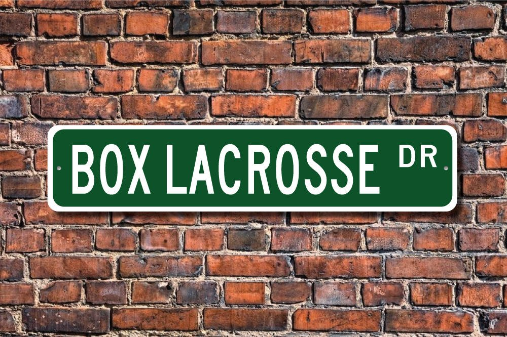 Box Lacrosse Sign Box Lacrosse Fan Lacrosse On Indoor Court Aluminum Sign Novelty Street Sign Outdoor Garage Cave Decor Ballkleid