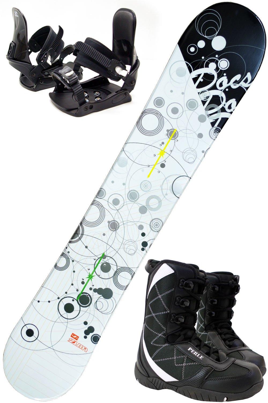 【3点セット】 ZUMA (ツマ) スノーボード ZUMA DOCS 選べる3カラー 150/153/158/163cm ビンディング付き ブーツ付き B0769BDR2Y ブーツ25cm(ビンディングS/M) ブラック/レッド153cm