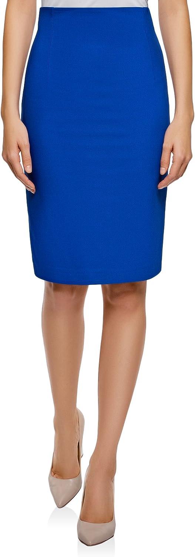 oodji Collection Mujer Falda Recta de Cintura Alta: Amazon.es ...