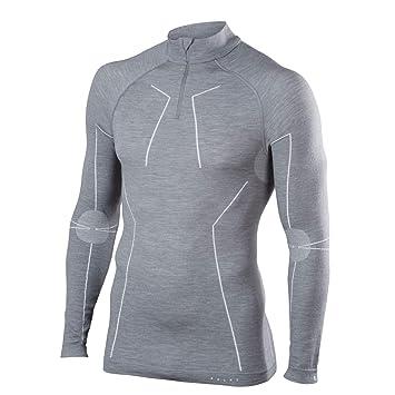 FALKE Calzoncillos Lana Tech Zip Camiseta Comfort Men Sport Ropa Interior, Primavera/Verano,
