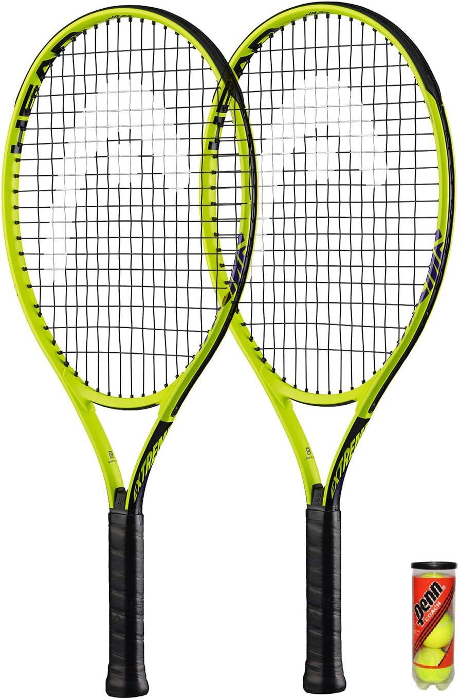 Head 2 Raquetas de Tenis Extreme Junior y 3 Pelotas de Tenis (19 ...