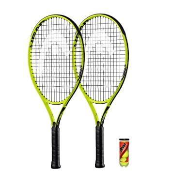 Head Ti. Radical - Juego de raquetas de tenis (2 unidades, 69 cm, 3 pelotas de tenis Head incluidas): Amazon.es: Deportes y aire libre