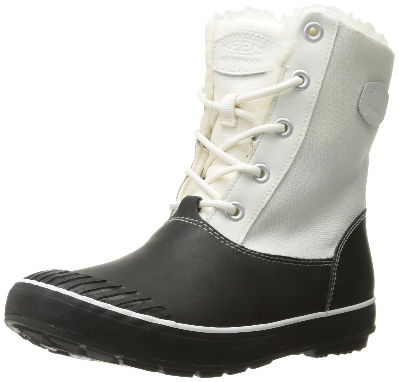 KEEN Women's Elsa Waterproof Winter Boot B019FC8UB4 5 B(M) US|Star White/Black