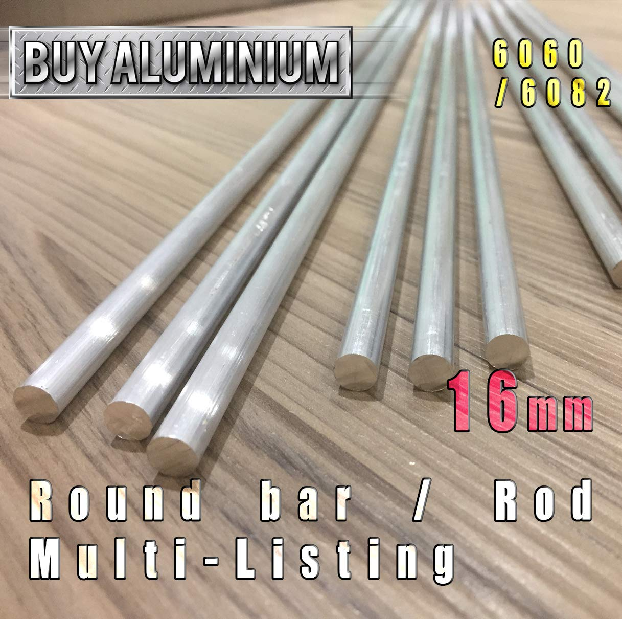 6-16mm Aluminium Round Bar//Rod 6082 T6 6mm x 100mm