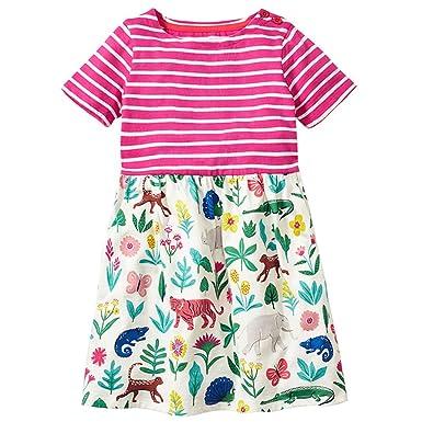 9b7b29318 Amazon.com  Budazo Girls Casual Stripe Dresses