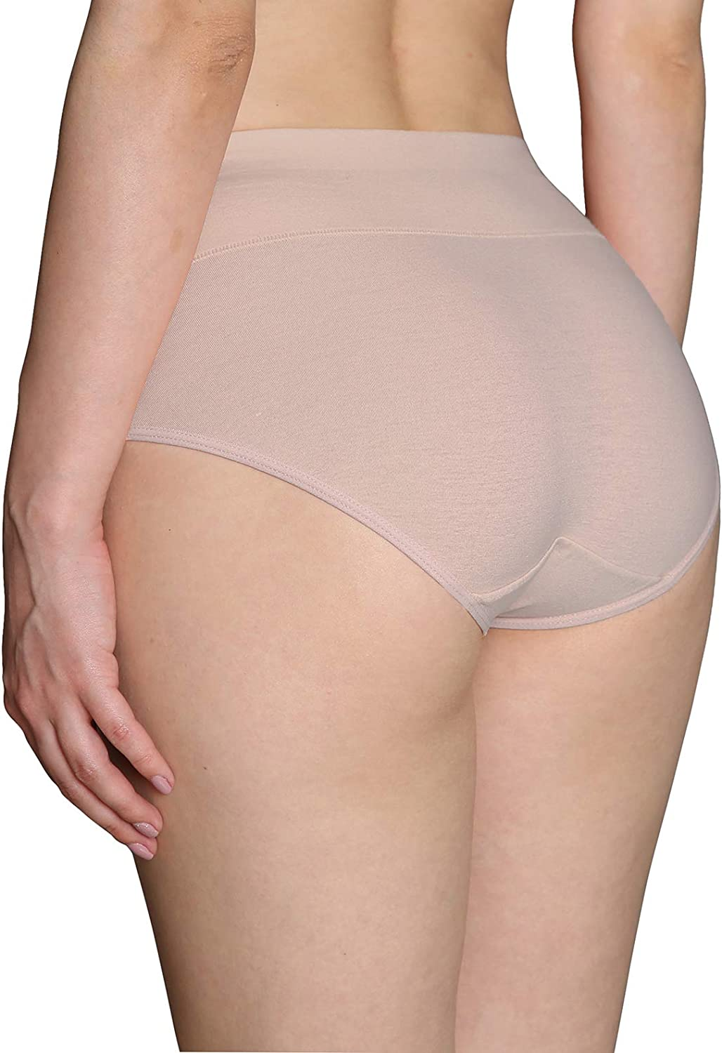 INNERSY Womens High Waisted Underwear Cotton Plus Size Ladies Panties Multipack