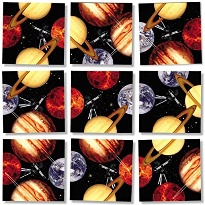 Scramble Squares Planets 9 Piece Challenging Puzzle - Ultimate Brain Teaser and Mind Game for Young and Senior Alike - Engaging and Creative With Beautiful Artwork - By B.Dazzle: Toys & Games
