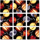 Scramble Squares Planets 9 Piece Challenging Puzzle - Ultimate Brain Teaser and Mind Game for Young and Senior Alike - Engaging and Creative With Beautiful Artwork - By B.Dazzle