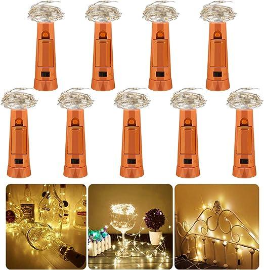 9 Pack Luz de Botella Led, luz Corcho, 2m 20 LED luces led Luz de ...