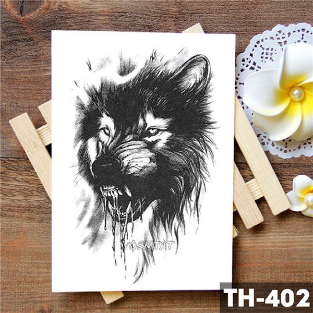 tzxdbh 3Pcs-Dragon Tatuaje Impermeable Pegatina Lobo Animal ...