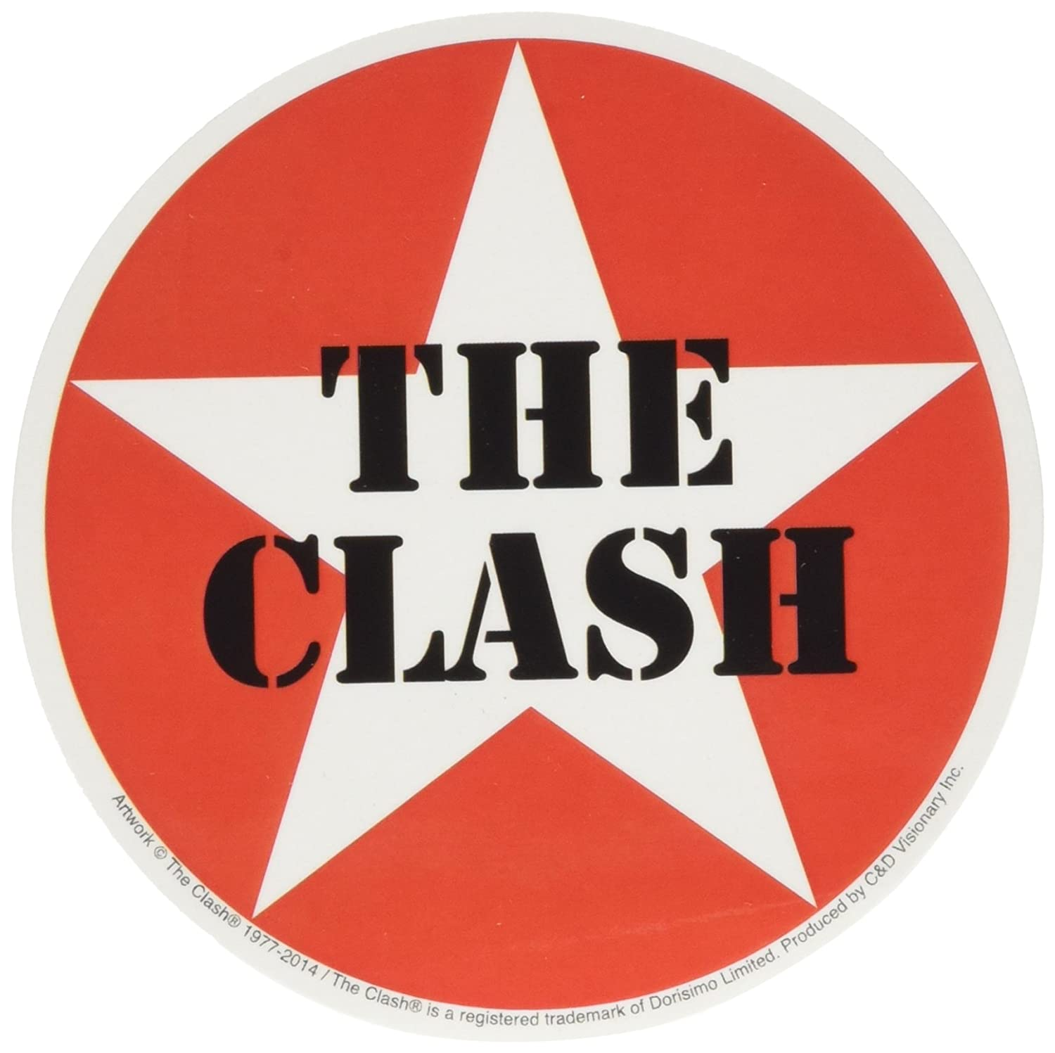 Amazon com cd visionary the clash star logo sticker toys games