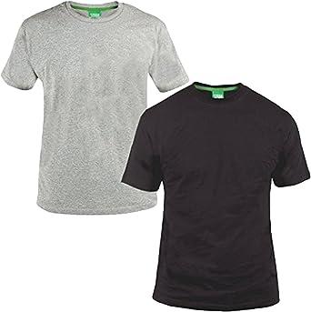 TALLA XXL. Duke - D555 - Juego de 2 camisetas de manga corta para hombre - Algodón - Grande