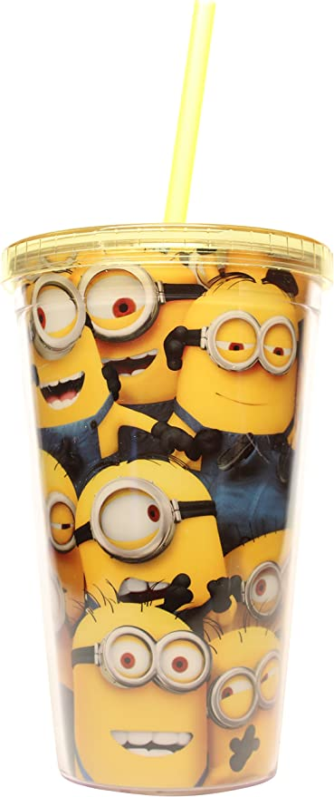 Despicable ME Universal Studios Minions Mania Party Travel Cup Tumbler