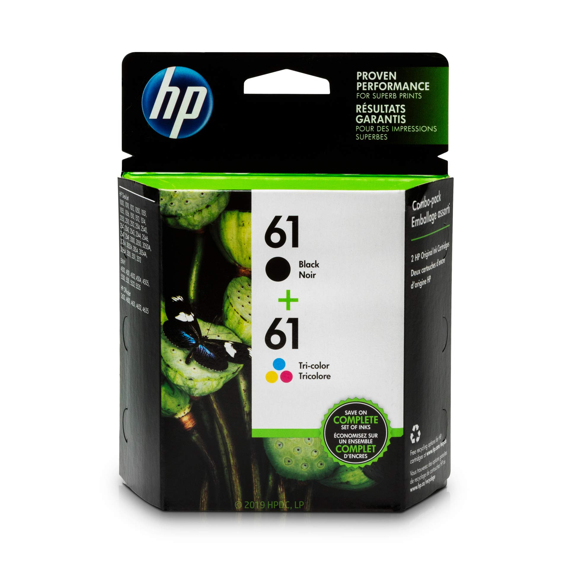 HP 61   2 Ink Cartridges   Black, Tri-color   CH561WN, CH562WN by HP