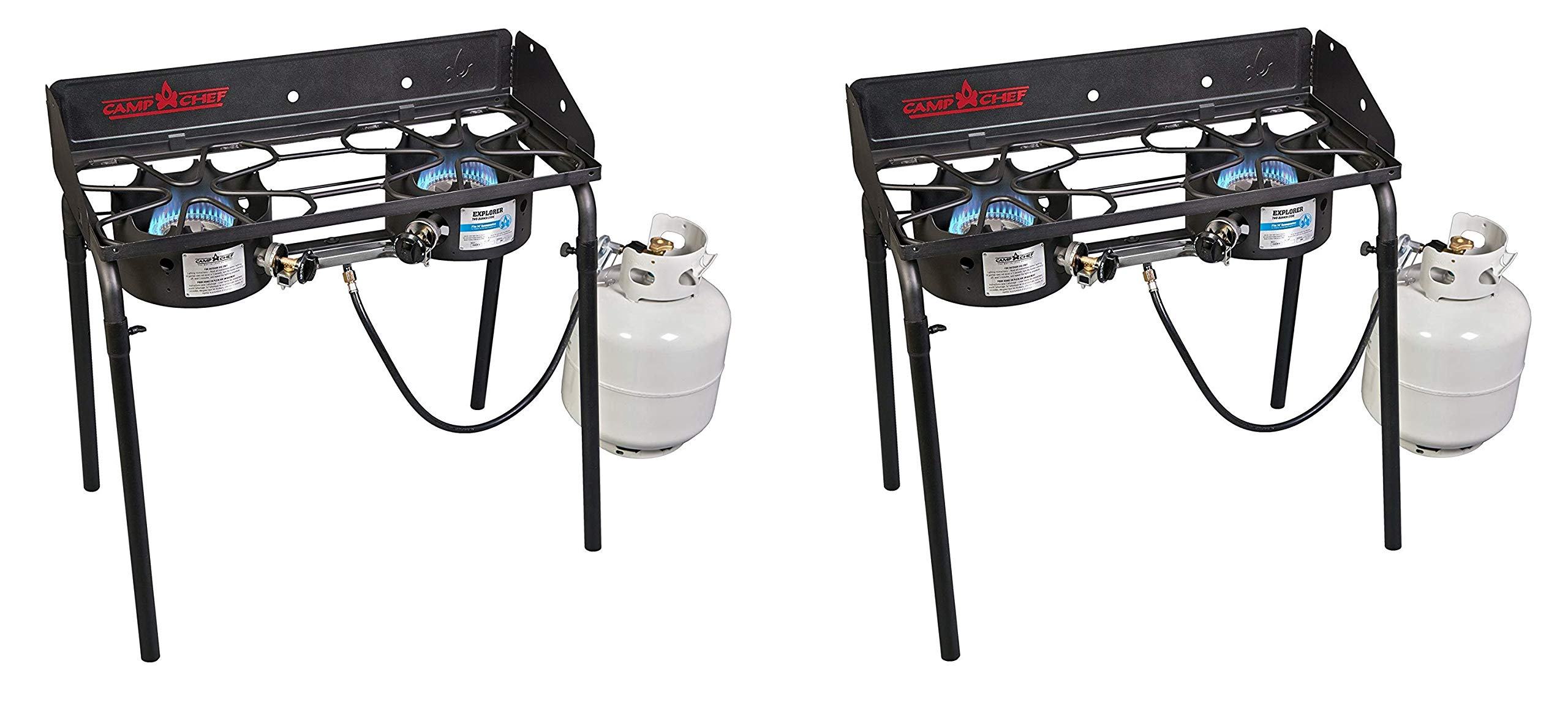 Camp Chef EX60LW Explorer 2 Burner Outdoor Camping Modular Cooking Stove (Pack of 2)