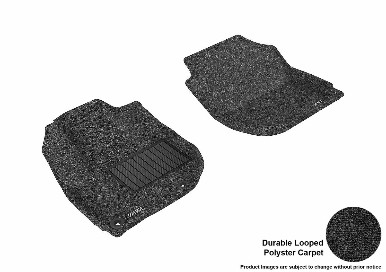 3D MAXpider Front Row Custom Fit All-Weather for Select Honda Fit//HR-V Models L1HD05512209 Black Classic Carpet