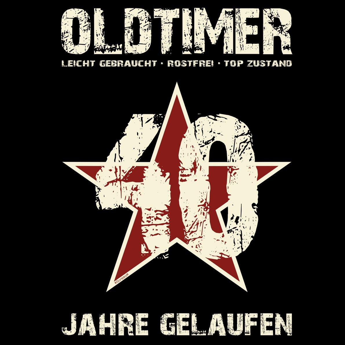 Grillsch/ürze Kochsch/ürze Geschenk zum 40 Geburtstag Farbe:schwarz Oldtimer 40 Geburtstagsgeschenk f/ür Frauen - Urkunde
