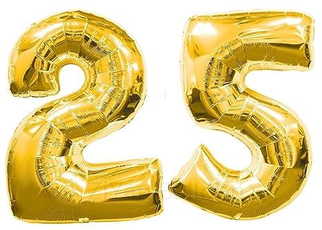 Amazon.com: Globos dorados con números: Toys & Games