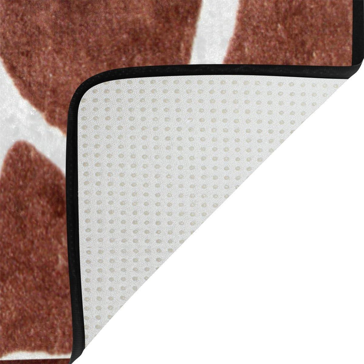 WOZO Animal Print Giraffe Spot Area Rug Rugs Non-Slip Floor Mat Doormats Living Dining Room Bedroom Dorm 31 x 20 inches Home Decor