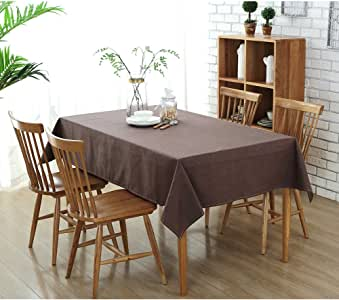 """Table Cloth-Cotton Linen SpillProof Dustproof Antistatic Fitted Rectangle Tablecloth Cover for Dinner Kitchen,Christmas Dinner, Wedding, Parties (Square 50""""x70""""inch) (5070inch)"""
